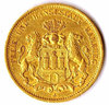 Hamburg, 20 Mark Gold, 1876 J